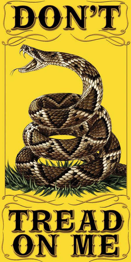 """Beautiful """"Don't Tread on Me"""" Towel! - FREE Shipping! - Show Off Your American Pride with this! - 30 inches x 60 inches - 400 gram towel Note: There are no returns on towels"""