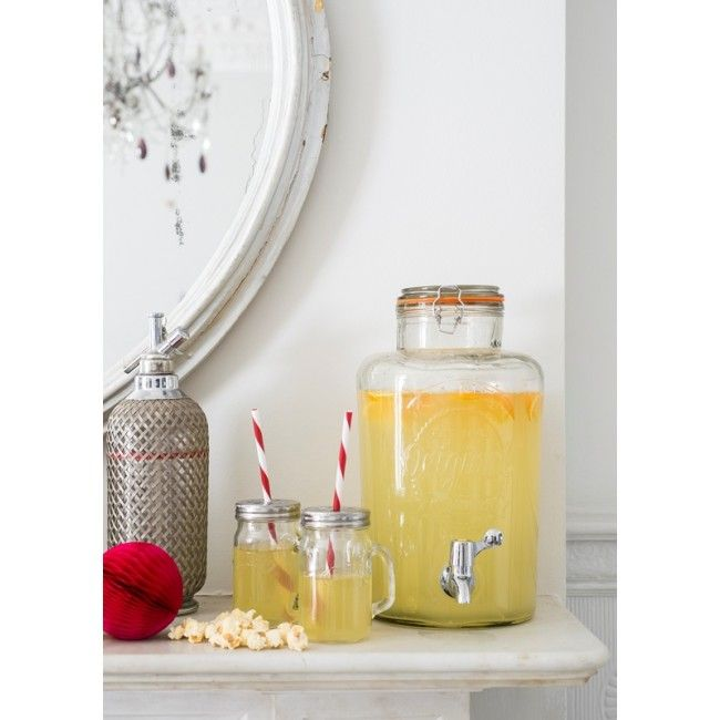 Giant Kilner Drink Dispenser | From The Handpicked Collection ... http://www.handpickedcollection.com/giant-kilner-drink-dispenser.html?gclid=CNmruK30icYCFUoCwwodFCAAbA