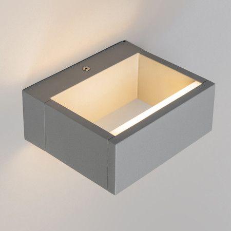 Außenleuchte Frame Wand LED Silbergrau: Solide Wandleuchte Aus Hochwertigem  Aluminium Mit Polyester Pulverbeschichtung.