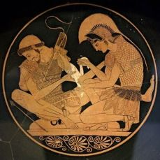 Gays in the military? Why, of course! The very gay Sacred Band of Thebes - 150 pairs of lovers - made up the elite of the Theban army in 338 B.C.