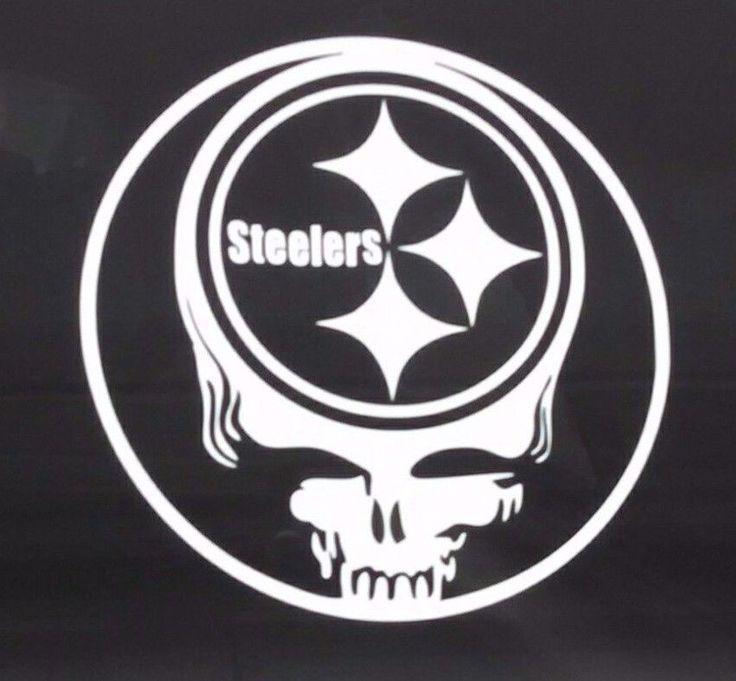 Steelersgrateful dead decaldie cut vinyl stickersteal your face pittsburgh
