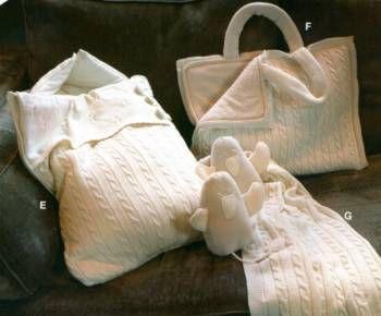 Конверт, корзинка и сумка для детских вещей спицами - Наборы на выписку- вяжем самостоятельно - Вязание для новорожденных - Последние схемы и модели для крючка и спиц - Вязание для души