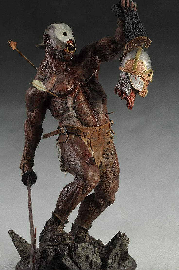 Berserker Uruk-Hai Lord of the Rings premium format statue from Sideshow Collectibles