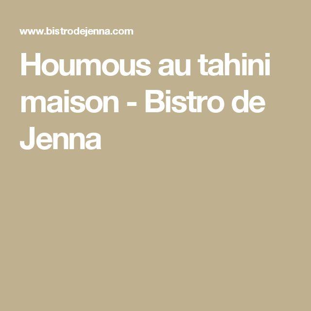 Houmous au tahini maison  -  Bistro de Jenna