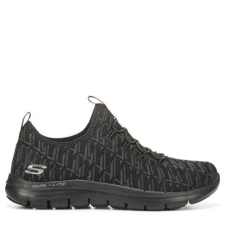 Skechers Women's Flex Appeal 2.0 Insights Memory Foam Sneakers (Black/Black) - 10.0 M