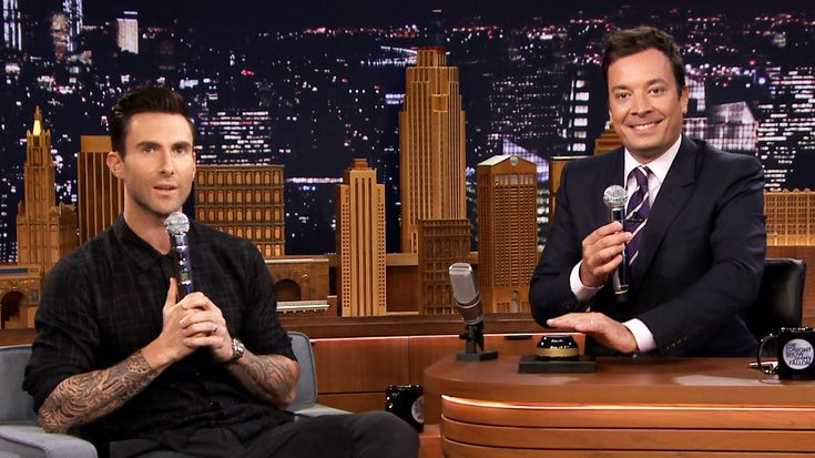 Jimmy Fallon and Adam Levine Play 'Wheel of Musical Impressions' on 'The Tonight Show'