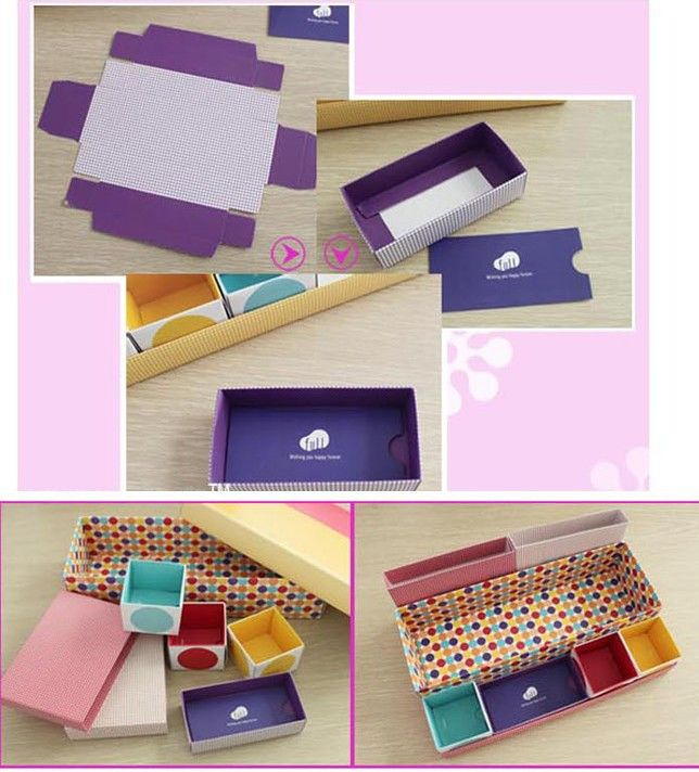 New Arrive 7 Cells Colorful Office Desktop Storage Case Cosmetic Jewelry Box Diy Hand Made Fee