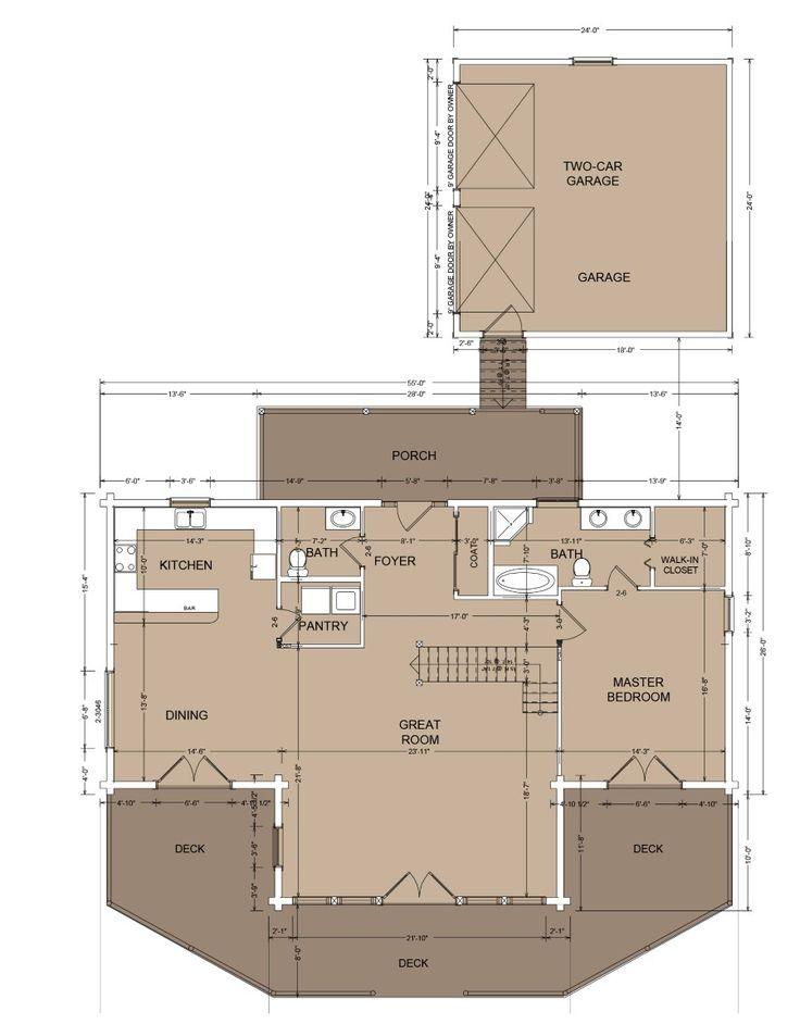 Tellico Lodge Main Floor House Layout Pinterest Log