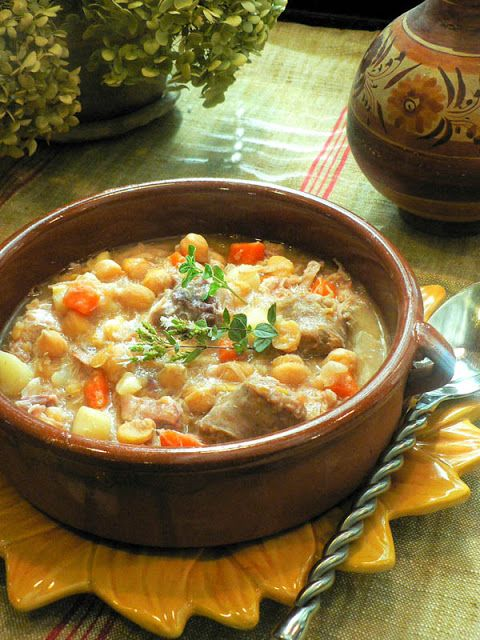 Cocido - best Spanish soup ever. Was this the first true thanksgiving meal?