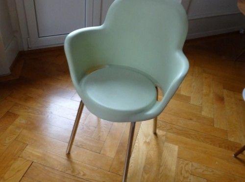 Chaises, 4 moderne Stühle pastell grün - Esstische & Essstühle