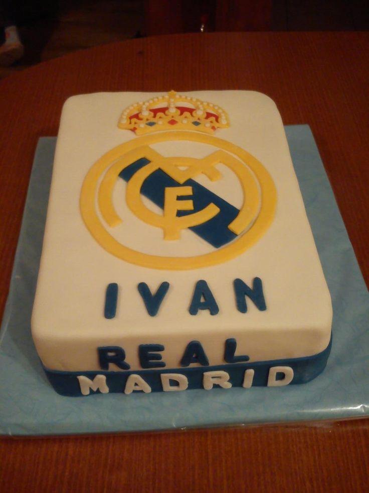 Birthday Cake Photo Real : Mer enn 25 bra ideer om Real madrid cake som du kommer til ...