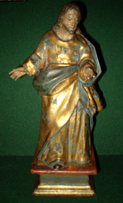 """""""Jesus predicando"""" Talla del siglo XVIII policromada, dorada y estofada."""