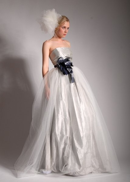 This dress makes a statement.  by Elizabeth St. John Couture.