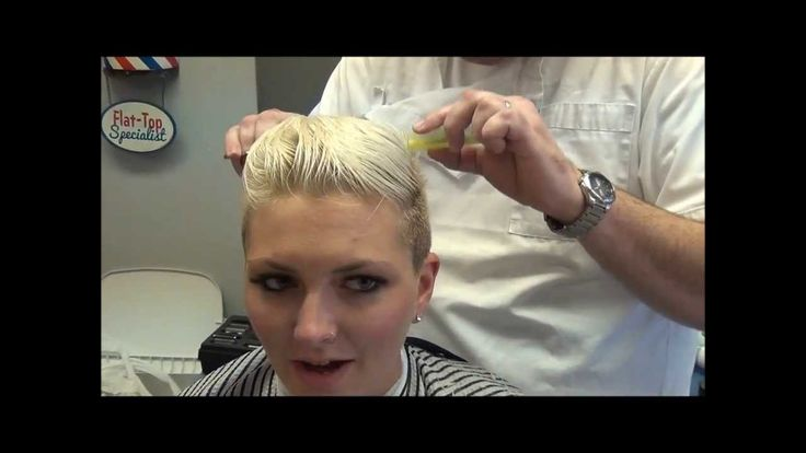 Miley Cyrus Inspired Womans Disconnected Haircut, Barber Style
