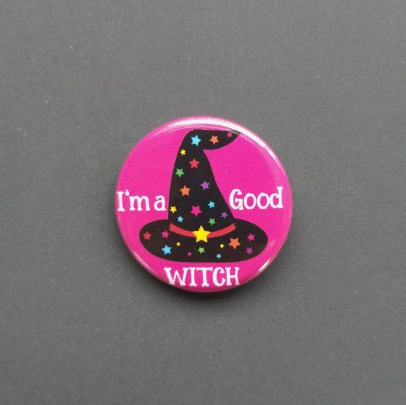 Witches Hat Halloween Witch Stars Badge Pin Quotes Pink Spooky Buttons Badges Gift Lapel Pin Brooch Gift For Her Halloween Badge Witch