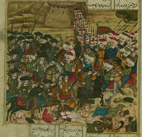 Battle Between the Ottoman and Hungarian Armies-Khamsa by Atai-1721