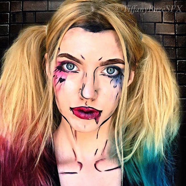 """Love your perfume. What is that, Stench of Death?"" #suicidésquad#harleyquinn#makeup#makeuartist#sfx#sfxmakeup#mua#comicbook#popart#beautyqueens4ever#joker#undiscoveredmuas#makeupxfeature"