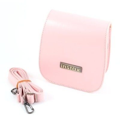 Pink PU Leather Case Bag For Fuji Instax Mini 7S Instant Camera Polaroid 300 - For Sale