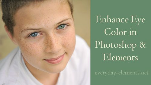 How to enhance eye color in Photoshop and PSE via @amandapadgett at http://Everyday-Elements.net