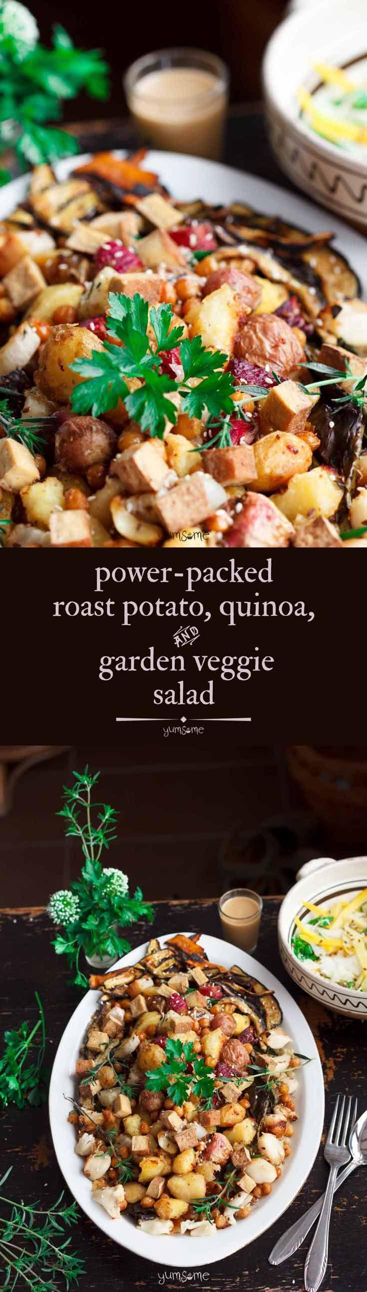 Power-Packed Roast Potato, Quinoa, and Garden Vegg…