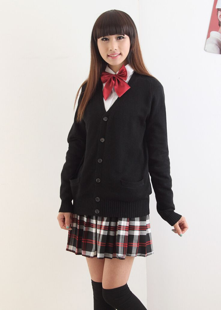 Japanese kawaii uniform knitted sweater cardigan