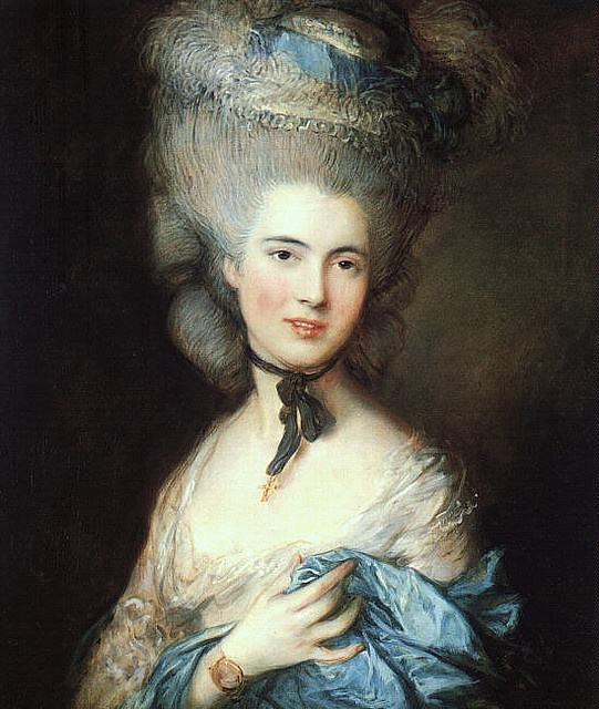 1770 lady in blue    Thomas Gainsborough