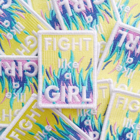 Girls are strong, athletic, powerful and totally badass - dont underestimate them. Show youre proud of yourself and your girl gang with this pastel