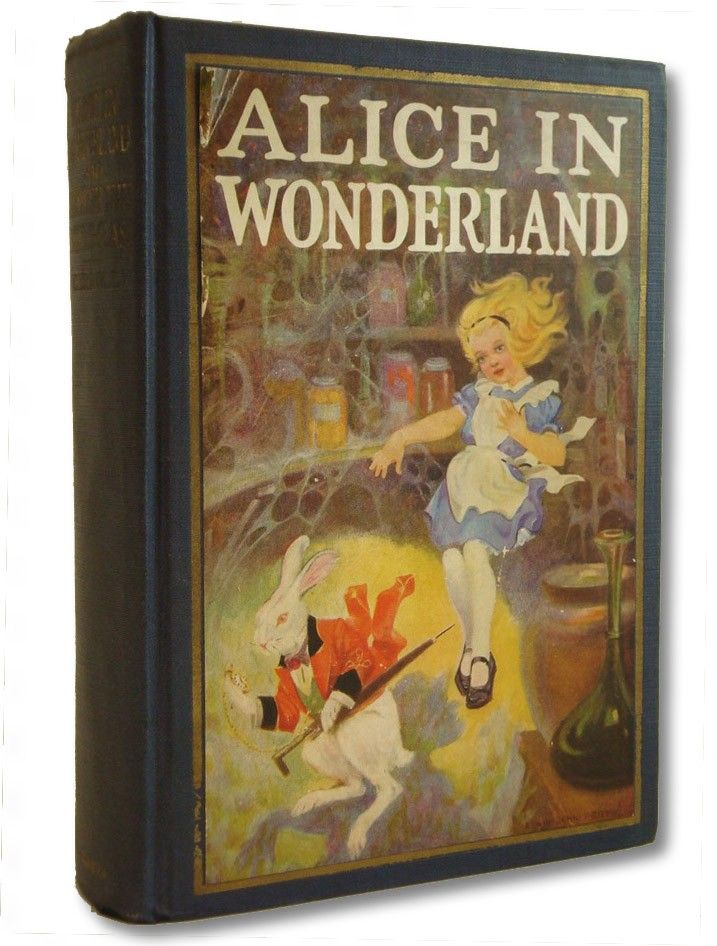Alice in Wonderland. Year: #1925. Country: #US. Illustrations: John Tenniel  and Edwin John Prittie . Additional Info: The John C. Winston Company printed edition. #book #cover #art