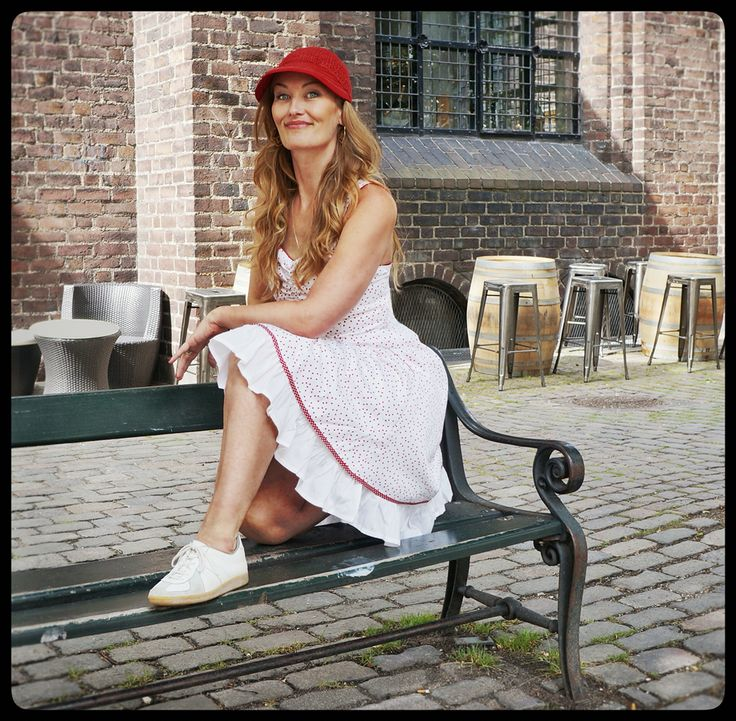 """Our idea of a summer outfit - Gorgeous Sabina is wearing the White """"Norah"""" dress in the streets of Copenhagen - check it out on the webshop:"""