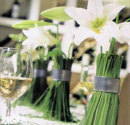 Свадебные букеты из лилий и калл Огурец