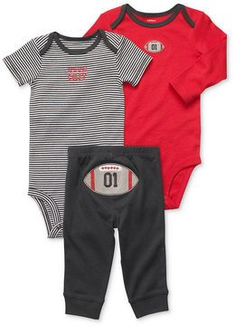 Carter's Baby Boys' Turn Me Around 3-Piece Football Bodysuits & Pants Set --- This is one of my favorite outfits that we have for our son! ADORABLE!