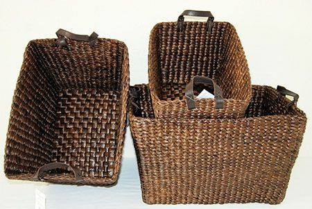Water hyacinth bin basket handcrafted from water plant that are very sustainable