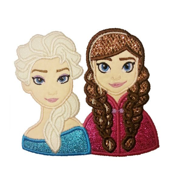 Frozen Anna and Elsa Applique Embroidery Design by AppliqueCandy, $4.00