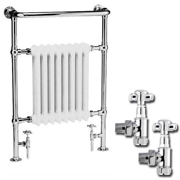 Premier Traditional Savoy Heated Towel Rail at Victorian Plumbing UK