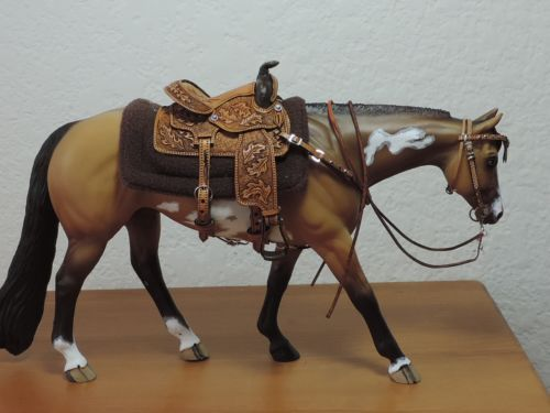 CM-WESTERN-SADDLE-BREYER-PETER-STONE  One of my favorites by Donna Allen