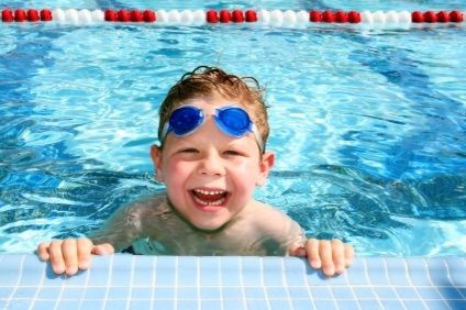 How to teach a kid how to swim! Though we do recommend pro-lessons for some people. That's how we learned :)