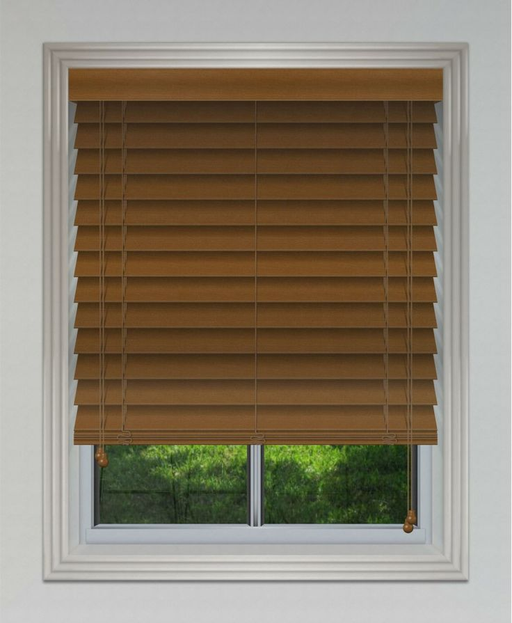 50mm Timber Venetian Blind - Teak #blinds #venetian