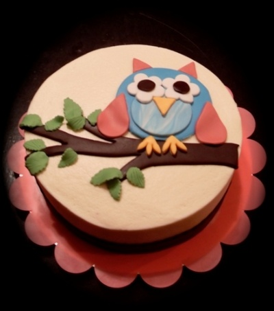 Owl By Becky52 on CakeCentral.com: Sweets, Cakes Cupcakes, Cake Ideas, Owl Cakes, Party Ideas, Cake Decorating, Dessert, Kid, Birthday Cakes