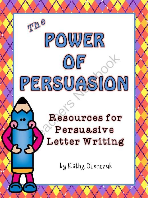 Persuasive Letter Example For Third Graders