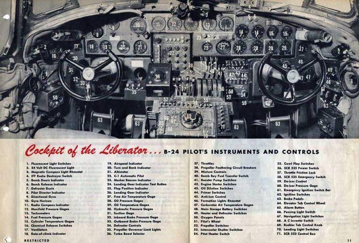 COCKPIT OF THE B-24 LIBERATOR