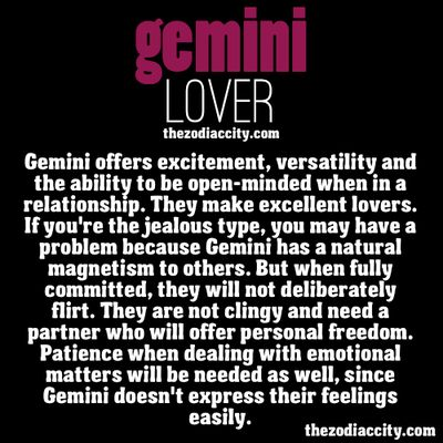 The #Gemini lover. I don't really believe in this stuff, but then I read something like this, and it's bang on!