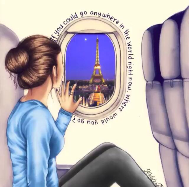 Travel to Paris / Viaggiare verso Parigi - Illust. by Kristina Webb