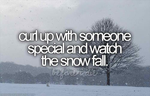 snowfall: Snow Fall, Buckets Lists, Dreams, Cabins, Curls, Before I Die, Things, Hot Chocolates, Watches