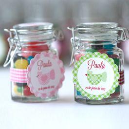 Tarro caramelos etiqueta personalizada regalo invitados Boda, Bautizo, Comunión