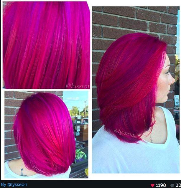 Magenta And Purple Hair Hair Pinterest Purple