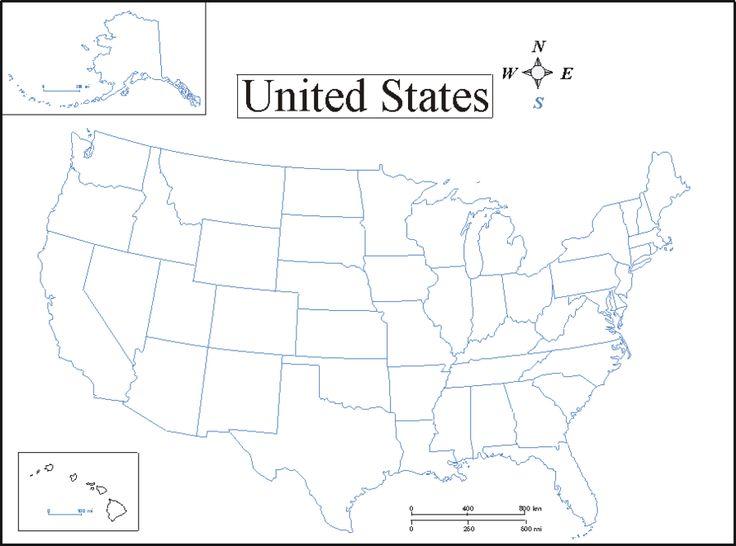 Printable US Map Printable Map of USA Map of United