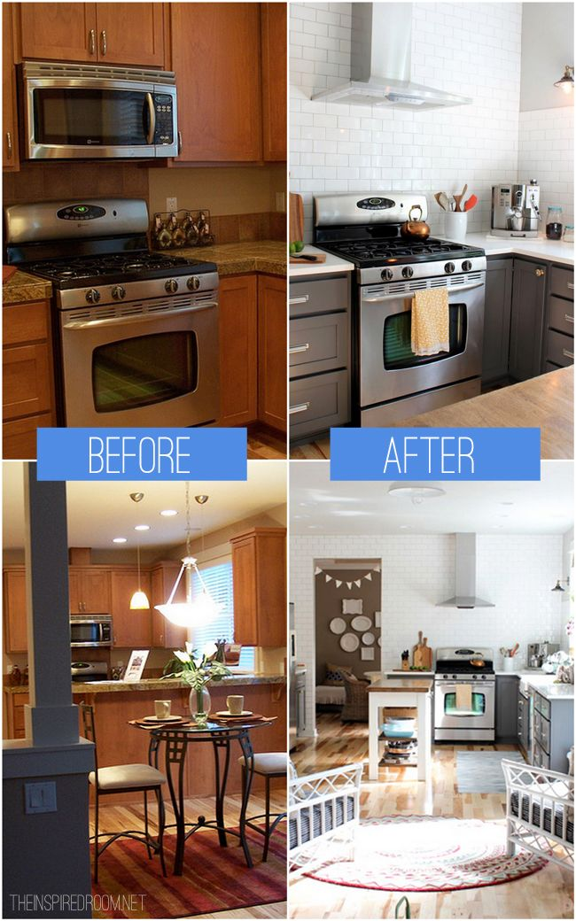Kitchen Remodel Before After Reveal Kitchen Ideas Gorgeous Heater For Bedroom Decor Remodelling