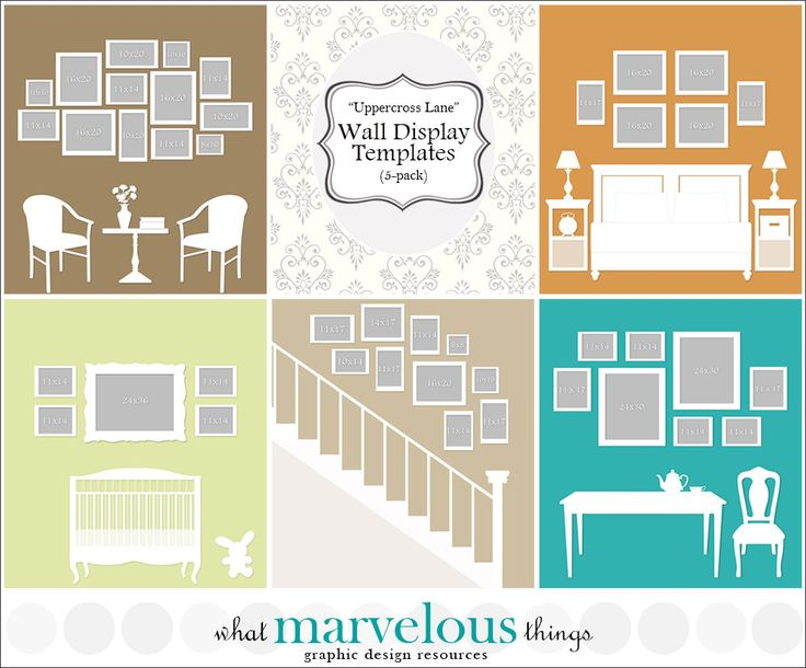 "Photo Wall Display Templates - ""Uppercross Lane"""