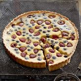 Buttermilk Tart With Lemon & Berries