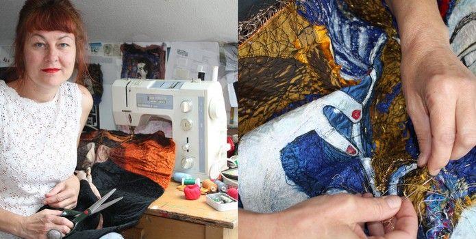 Sandi Kiehlmann textiles - Meet Your Maker at Burgh Hall Dunoon